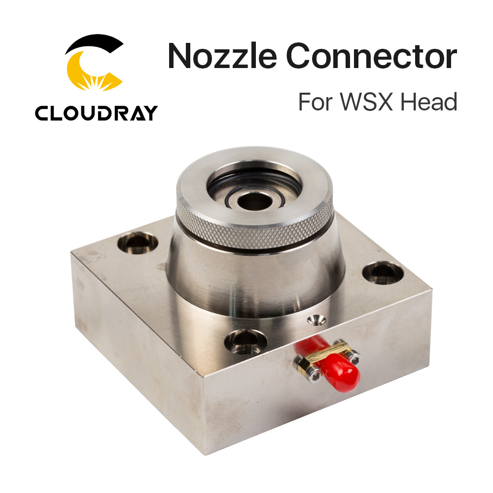 Cloudray Nozzle Connector Fastener For WSX Fiber Laser Head on 1064nm Fiber Laser Metal Cutting machineCloudray Nozzle Connector Fastener For WSX Fiber Laser Head on 1064nm Fiber Laser Metal Cutting machine