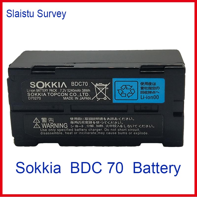 NEW SOKKIA / TOPCON BDC70 Li-ion battery 7.2V 5240mAh FOR Total Station / GPS