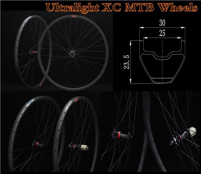 30*23mm High Profile Cyclocross Novatec Hub 29er Decals Bike Carbon MTB Mountain Tubeless Rims Bike Carbon Wheels 29 Rims