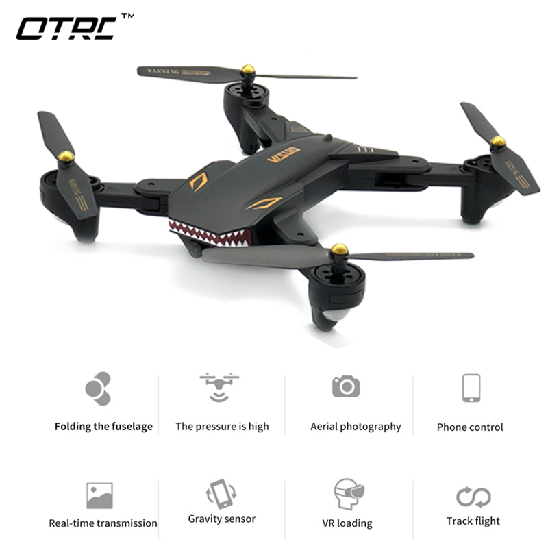 (XS809HW Atualizado) 0.2MP Câmera Drone RC Quadcopter Drones Wi-fi FPV Dobrável Um Retorno Tecla Hold Altitude G-sensor de Controle De Telefone