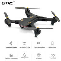 (XS809HW Upgraded) 0.2MP Camera Drone RC Quadcopter Wifi FPV Foldable Drones One Key Return Altitude Hold G-sensor Phone Control