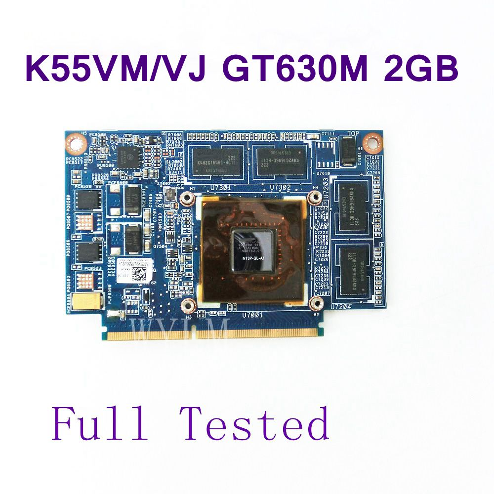 For ASUS K55VJ K55VM Graphic Card GeForce GT 630M N13P-GL-A1 2GB Video card Fit A55V K55VM K55VJ K55V Laptop free shipping test free shipping 5pcs lot kb930qf a1 930qf a1 qfp offen use laptop p 100% new original
