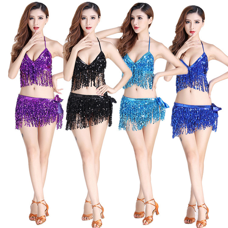 Newset Belly Dancing Dress DS Performances Costumes Sexy Charming Belly Dancing Short Dress Jazz Pole Dancing Tassel Costume