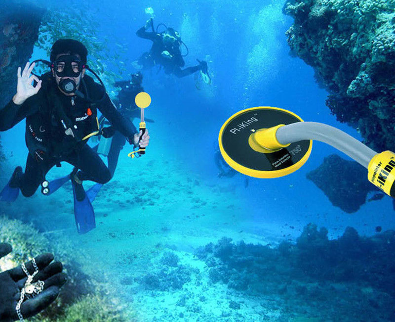 Pi-iking 30m Targeting Pinpointer Pulse Induction (PI) Underwater Metal Detector Waterproof Vibrator