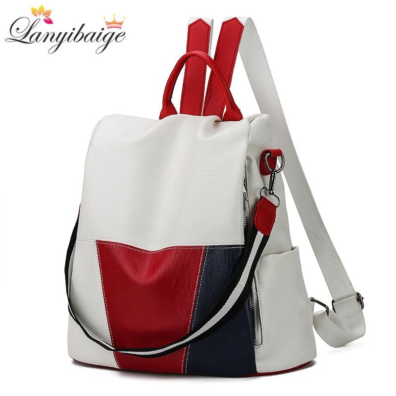 2019 New High Quality Women Backpack Multifunction Backpack Women Large Capacity School Bags For Teenage Girls Mochila Feminina