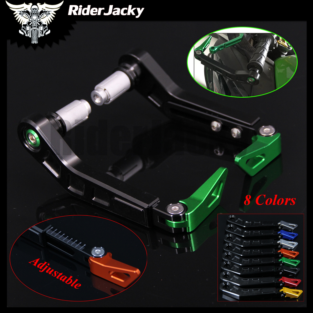 Universal 7/8 22mm Motorcycle Handlebar Brake Clutch Levers Protector Guard for Kawasaki Z650 NINJA 650R/ER-6F/ER-6N Z800 Z1000 top quality cnc foldable folding fingers wave brake clutch levers for kawasaki ninja 650r er 6f er 6n 2006 2008 red