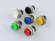 R13-507 Momentary SPST NO Red Round Cap Push Button Switch AC 6A/125V 3A/250V 6color