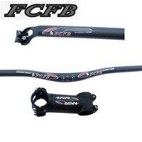 FCFB rise MTB set matt +glossy Extreme sport handlebar +3k seatpost + alu carbon stem bike parts bicycling parts