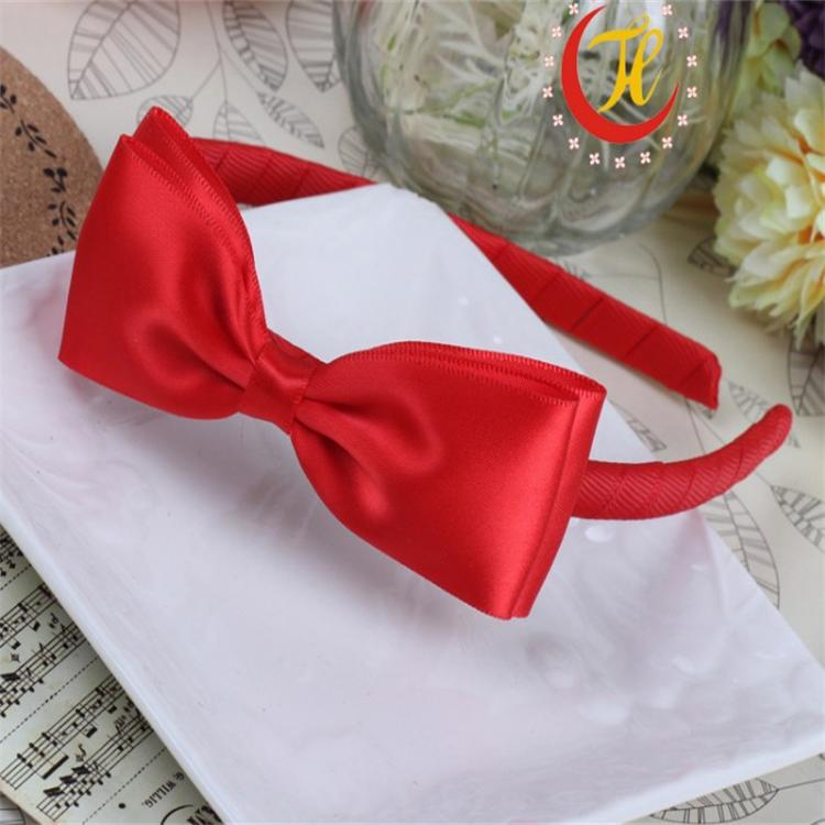 New Children's Baby Girls Red Cotton Bowknot Tiara Flower Headdress Headwear Bow Head Hoop For Children Acessorio De Cabelo T