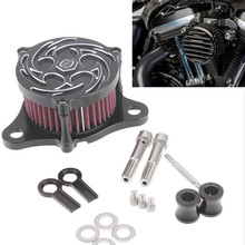 CNC Aluminum Rough Crafts Motorcycle Air Cleaner Intake Filter System fit for Harley Davidson Sportster 2004 -2014 XL 883 XL1200