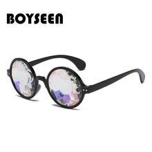 BOYSEEN lunettes de Soleil Rétro Rond Kaléidoscope lunettes de Soleil  Hommes Femmes Designer Kaléidoscope Lunettes Cosplay lunet. c4a58461618a