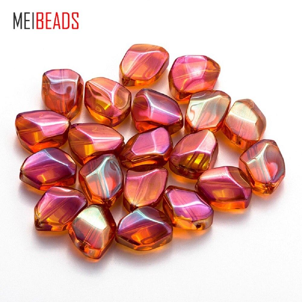 Perlen Meibeads 20 Teile/los 12*16mm Bunte Kristall Unregelmäßige Form Perlen Für Zubehör Armband Diy Schmuck Machen Ey6072