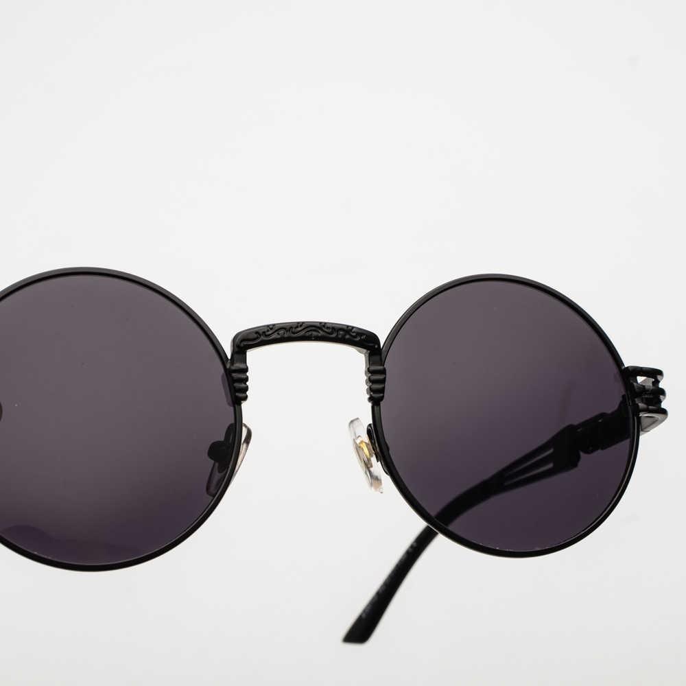 10b3393127d81 ... Peekaboo vintage retro gothic steampunk mirror sunglasses gold and  black sun glasses vintage round circle men ...
