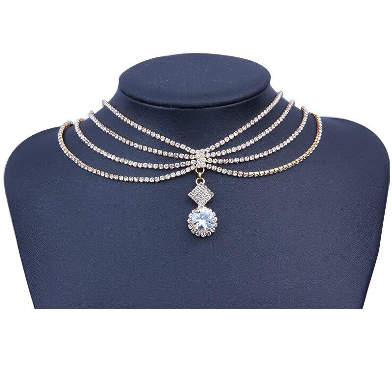 Stonefans Crystal Rhinestone Choker Necklace Women Cz Wedding