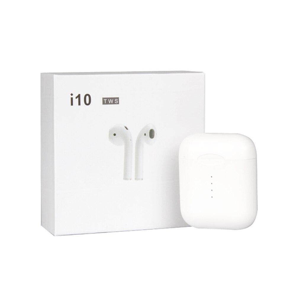 I10 TWS Mini Air gousses recharge Sans Fil Bluetooth Écouteur Écouteurs Avec Boîte De Charge Micro Pour Iphone7, 8, X pour Samsung Android