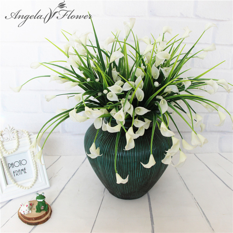 New Beautiful 25 Heads Bouquet Mini Artificial Calla With