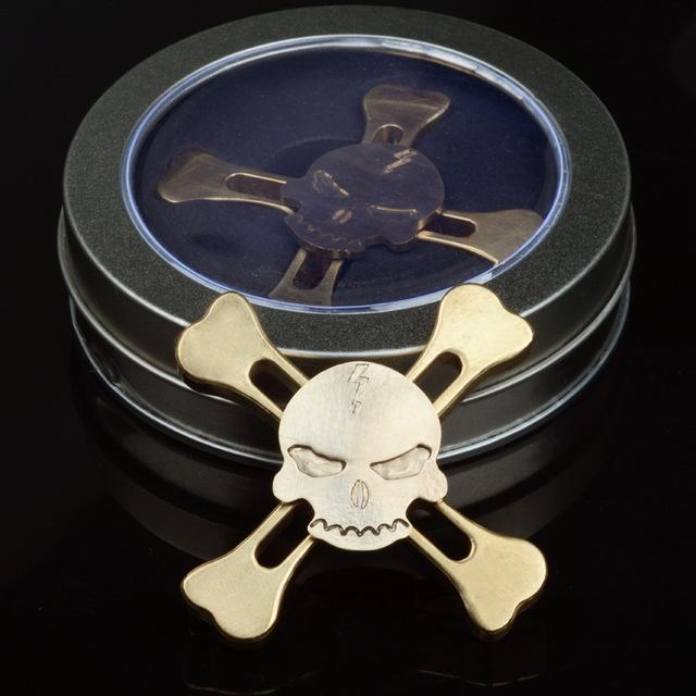 Brass Skull Fidget Spinner