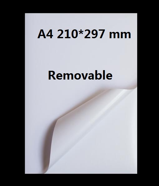 A4 Size Printable/Removable Off White Glossy Self Adhesive Sticker Paper Sheet Label For Laser Printer 2/10/30/50 Sheets