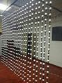 WS2811 endereçável 3D 35mm de diâmetro cheio de cor bola leitosa; DC12V; 1.44 W; dupla face 3 pcs 5050 leds cada lado; 40 pcs/string; IP54