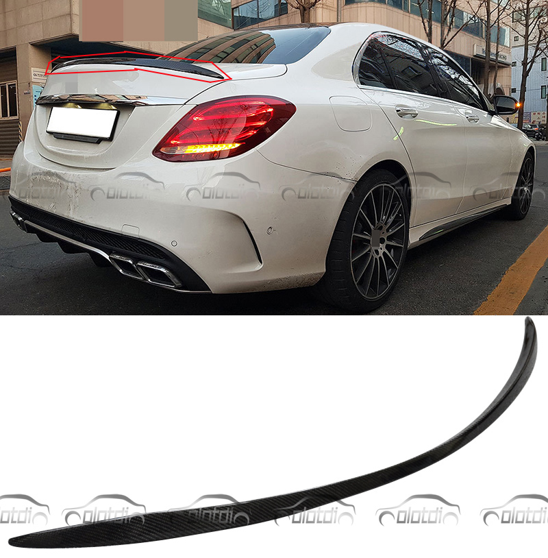 W205 AMG Carbon Fiber Rear Trunk Lip Spoiler Splitter For Mercedes Benz AMG style C Class W205 2014 2015 C180 C200 C250 C260 for mercedes w205 carbon spoiler amg style coupe c class w205 c200 c300 c180 carbon fiber rear spoiler rear trunk wing 2014 up