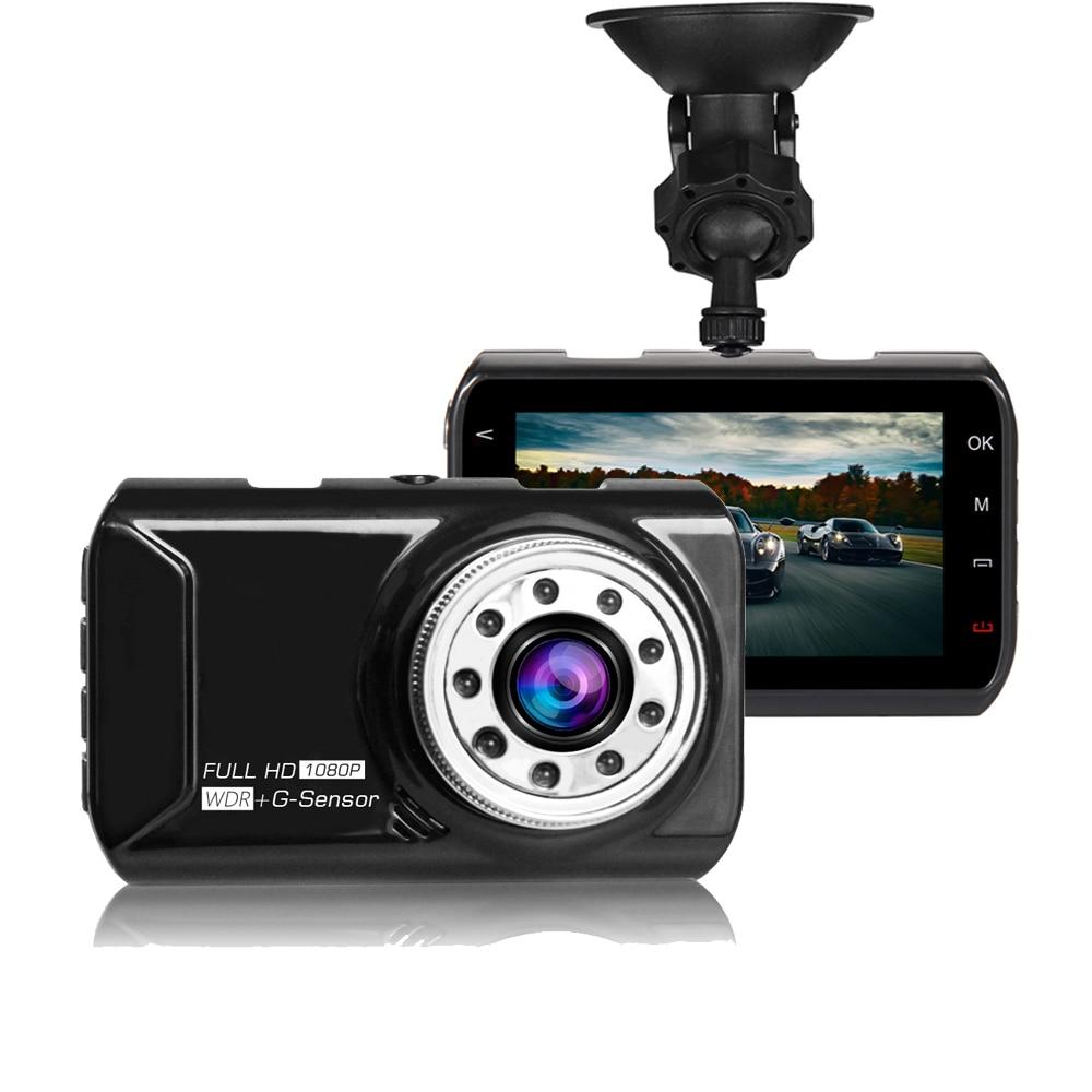 2018 Auto Dash Cam Car DVR Camera Night Vision Dash Cam Full HD 1080P Video Registrator Recorder G-sensor Car Black Box Display