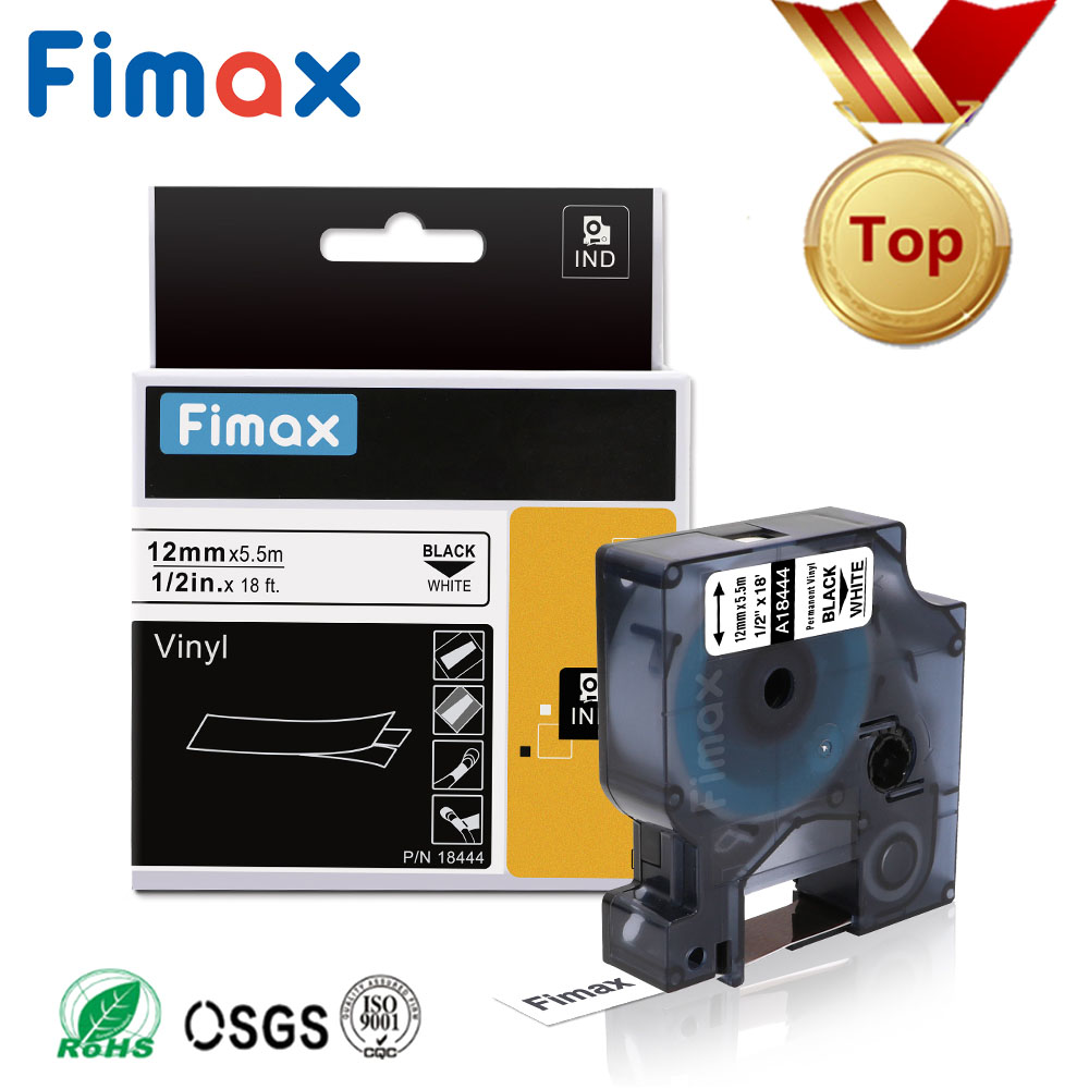 Fimax 1 Pcs 18443 18431 18434 18444 Compatible DYMO Rhino IND Vinyl Label 18432 1805430 1805431 for Dymo Rhino 4200,5000,5200Fimax 1 Pcs 18443 18431 18434 18444 Compatible DYMO Rhino IND Vinyl Label 18432 1805430 1805431 for Dymo Rhino 4200,5000,5200