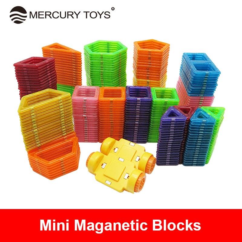 Mini Size Magnetic Blocks Designed construction Blocks 3D Model Building Bricks Children Educational font b Toys