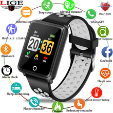 2019 LIGE New Smart Bracelet Men Heart Rate Blood Pressure Monitor fitness tracker Watch Women Pedometer Wristband