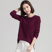 9colors High Quality Cashmere Sweater Women Winter Pullover Solid Knitted Sweater Top For Women Autumn Female