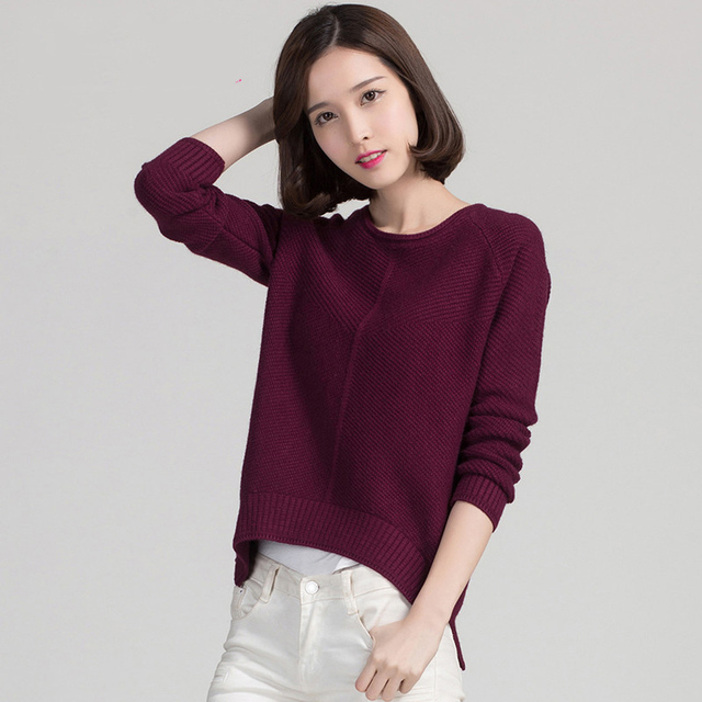 9colors High Quality Cashmere Sweater Women autumn Pullover Solid Knitted Tops Female winter basic shirt Oversized Sweaters pull