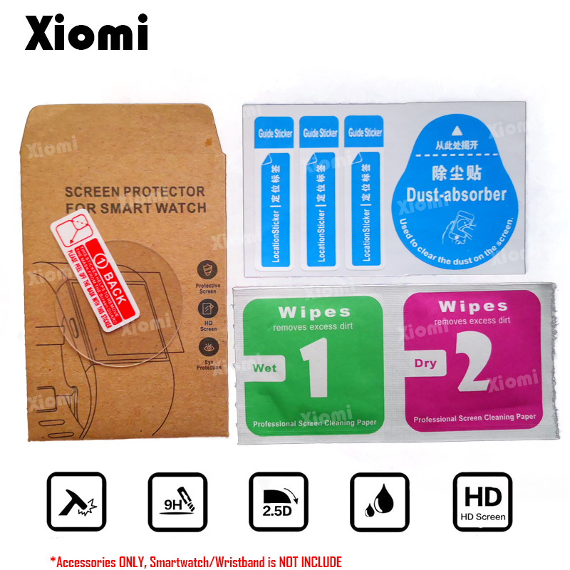 4Pcs Lot 2Glasses 2Wipes For Smartwatches Lenovo Watch 9 X Plus XPlus Screen Protector Cover Tempered Glass Protective Film in Smart Accessories from Consumer Electronics