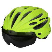 GUB Top Magnetic Goggles Sport Helmet Ultralight Bicycle Cycling Helmet With Lens & Sunvisor Casco Ciclismo 56-62 CM Bike Helmet