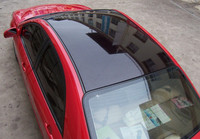 3 Layers High Glossy Black Mirror 1.35*15m Sun Roof Vinyl Wrap Film