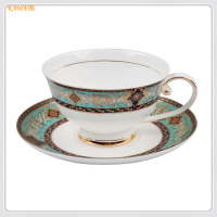 1setAfternoon Tea Porcelain Coffee Cup Saucer Set Elegant Luxury Style Beatiful Gift High Bone China Cup