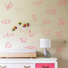 Origami Animals Wall Decal Sticker For Nursery Room Removable Decor 746M-1