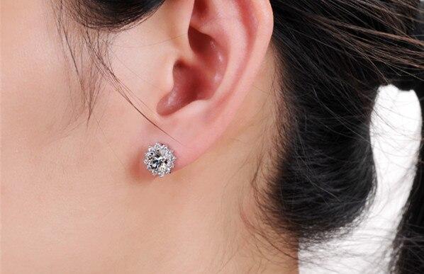 Romantic 1CTW 6 5mm each G H Moissanite Diamond Stud Earrings TEST POSITIVE WARRANTY 925 Sterling.jpg 640x640 - Romantic 1CTW 6.5mm each G-H Moissanite Diamond Stud Earrings TEST POSITIVE WARRANTY 925 Sterling Silver Wedding Earring