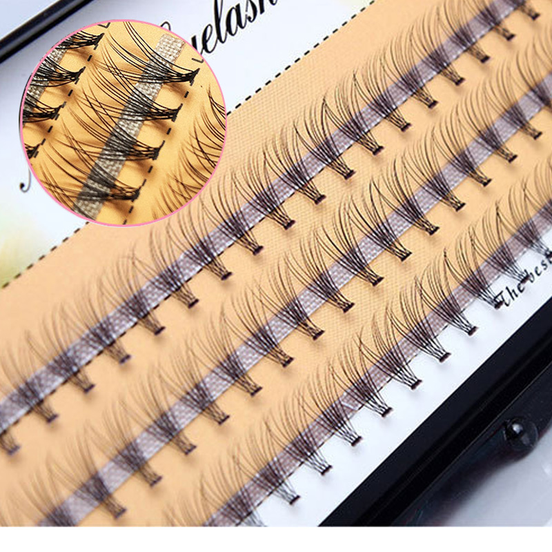 B C Curl Premade Fanned Volume Lashes 11-13mm B C Curl 10D Russian Fans Eyelash Extension Black Color Individual Eyelashes