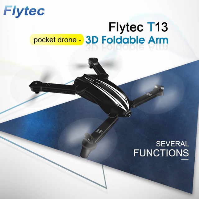 Flytec T13 3D 2.4G 4CH 6-Axis Gyro Mini Foldable RC Drone with Wifi FPV 720P Wide Angle Camera High Hold Mode RC Quadcopter