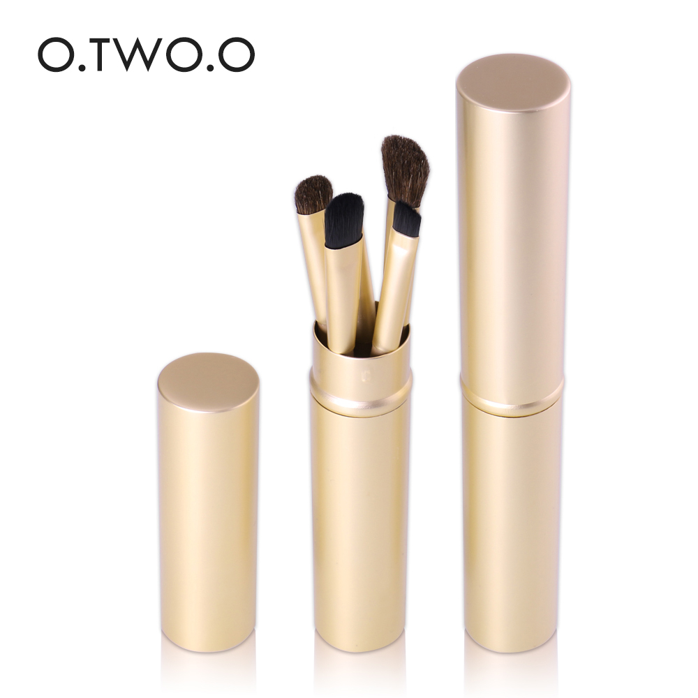O.TWO.O 5pcs Makeup Brushes Set Powder Blush Foundation Eyeshadow Eyeliner Lip Cosmetic Brush Kit Beauty Tools With Gold Tube new lcbox professional 16 pcs makeup brush set kit pouch bag cosmetic brush kit cosmetic powder foundation eyeshadow brush tools