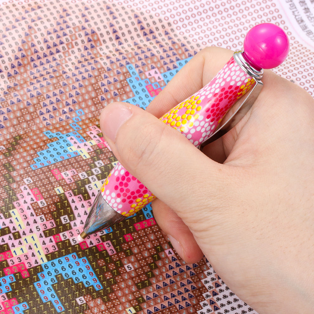 *Bowling Shape Point Drill Pen Diamond Painting Cross Stitch Sewing Accessories*