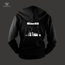 walking dead zip up hoodie Rick cool vector design high quality sweatshirts men unisex 82% cotton fleece inside free shipping