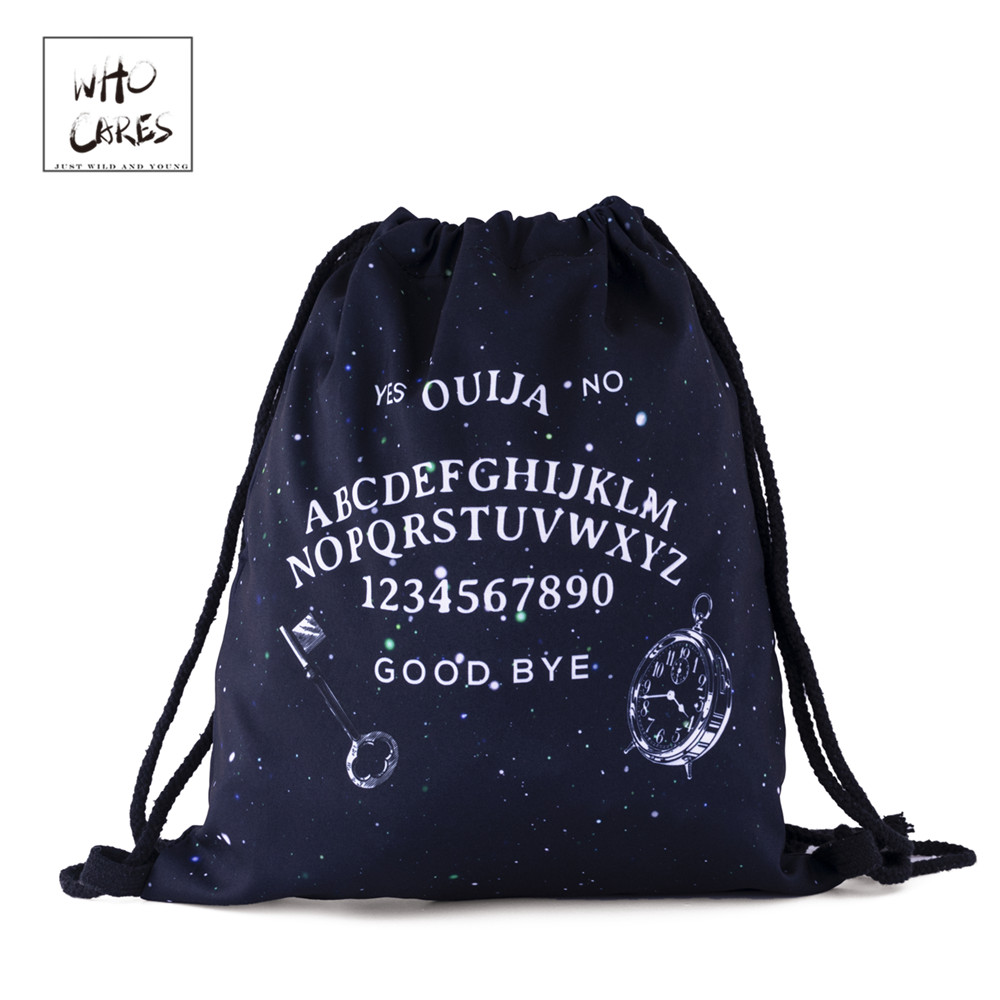 Unisex Drawstring Bag 3D Printing Backpack Rucksack School Satchel Travel Bags