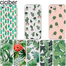 Tropical Plants Soft Silicon Phone cases cover For iPhone 6 6S 7 8 plus 5S SE X