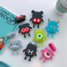 Cute Cartoon Disneys Mickey Minnie Soft silicone doll Case For Apple Airpods Case Wireless Bluetooth Earphone Toy Story Cover(China)
