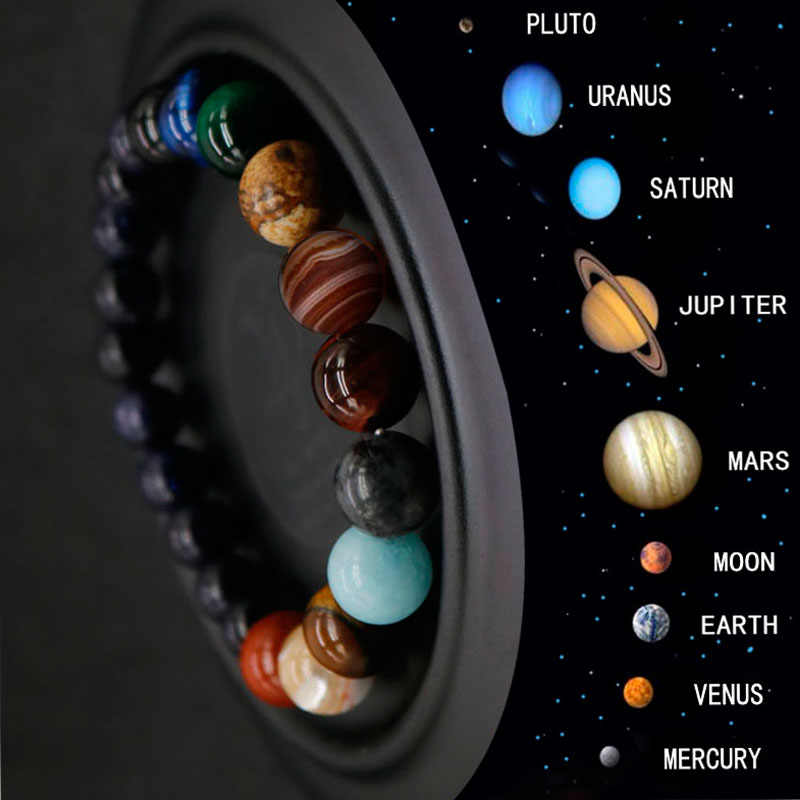 2019 Eight Planets Bead Bracelet Men Natural Stone Universe Yoga Chakra Solar Bracelet for women Men Jewelry Drop Shipping