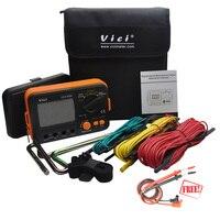 VICI VC4105A тестер сопротивления земли первый ЖК дисплей Цифровой Сопротивление Напряжение метр громоотвод измерительный прибор инструменты
