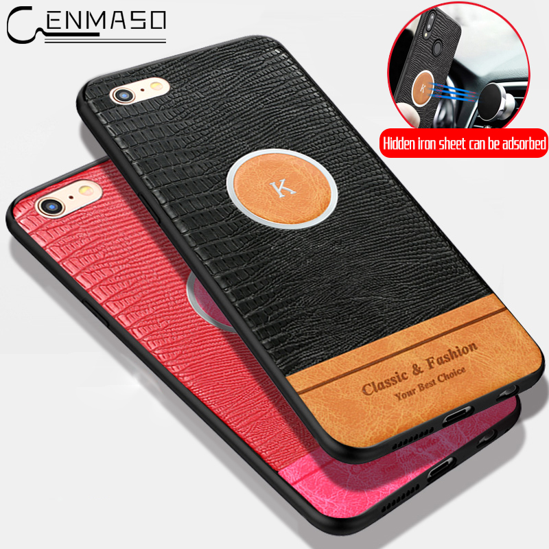 For IPhone 7 Case Cover for IPhone 8 Case PU Leather Car Magnetic Shockproof Back Cover for IPhone 6 6s 7 8 Plus Case Capa Funda