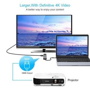 Image 5 - 5 in 1 USB Tipo C Hub Hdmi 4 K USB Rj45 Adattatore Lan per Macbook Pro Charger Porta