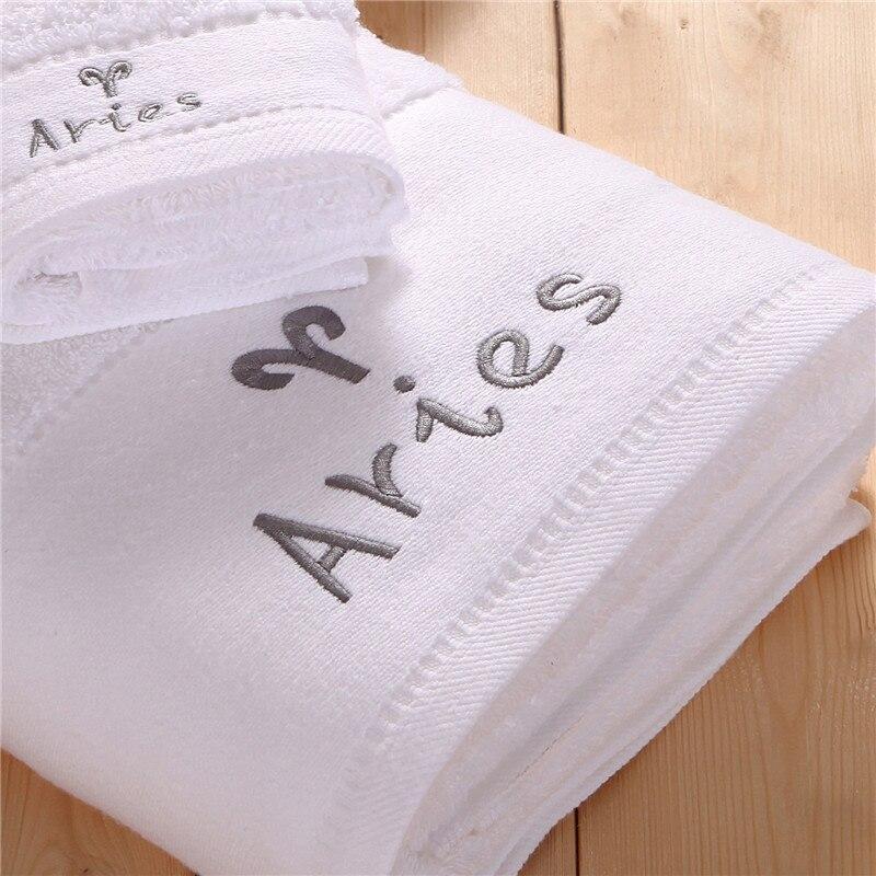 Único Aries signo del zodiaco y símbolo Bordado Hotel & Spa toalla ...
