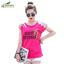 6ac97538c04 Short-sleeved T-shirt loose cotton bottoming shirt summer new increase size sweater  fat mm fashion printing T-shirt women s tide